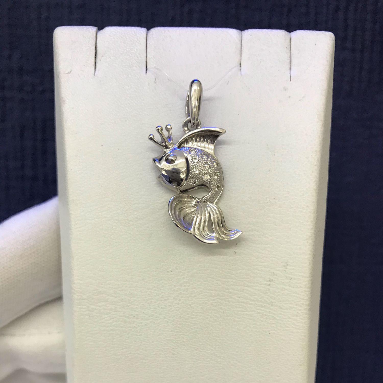 Подвеска «Золотая рыбка» с бриллиантами, Подвеска, Севастополь,  Фото №1