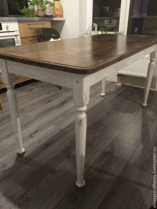 Мебель ручной работы. Ярмарка Мастеров - ручная работа. Купить стол обеденный. Handmade. Бежевый, деревенский стиль, для декорирования