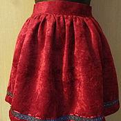 Одежда ручной работы. Ярмарка Мастеров - ручная работа юбочка из бархата. Handmade.