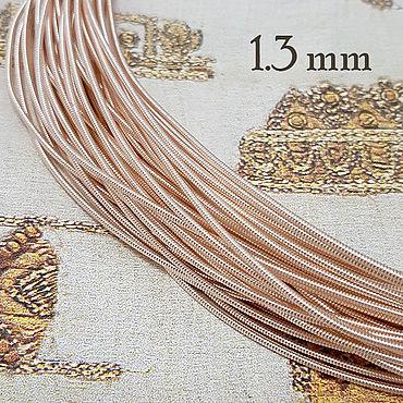 Материалы для творчества ручной работы. Ярмарка Мастеров - ручная работа Канитель ОПТ жёсткая 1,3 мм розовое золото 100 граммов. Handmade.