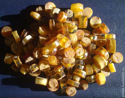 """Для украшений ручной работы. Ярмарка Мастеров - ручная работа. Купить Янтарные """"таблетки"""".. Handmade. Комбинированный, янтарь натуральный"""
