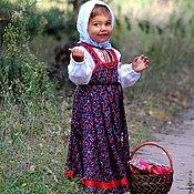Русский стиль ручной работы. Ярмарка Мастеров - ручная работа Русский наряд (комплект для девочки). Handmade.