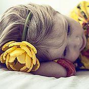 """Украшения ручной работы. Ярмарка Мастеров - ручная работа Ободок """"Лимонное настроение"""". Handmade."""