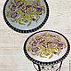 """Мебель ручной работы. Ярмарка Мастеров - ручная работа. Купить Столик журнальный """"Анютины глазки"""". Handmade. Цветы, столик из мозаики"""