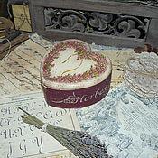 """Для дома и интерьера ручной работы. Ярмарка Мастеров - ручная работа """"Вересковое сердечко"""" - керамическая шкатулка. Handmade."""