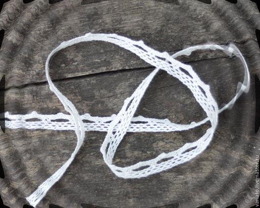 Шитье ручной работы. Ярмарка Мастеров - ручная работа. Купить Кружево хлопок натурально-белое 10 мм. Handmade. Белый
