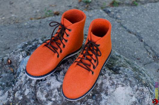 Ботинки из войлока `UltraОrange`
