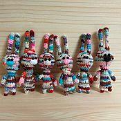 Мягкие игрушки ручной работы. Ярмарка Мастеров - ручная работа Зайцы. Handmade.