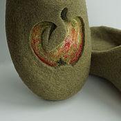 """Обувь ручной работы. Ярмарка Мастеров - ручная работа Валяные тапочки """"Яблочные"""". Handmade."""