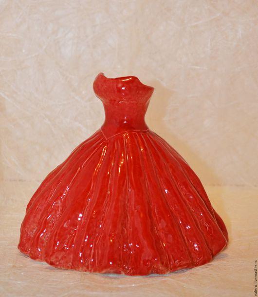 Вазы ручной работы. Ярмарка Мастеров - ручная работа. Купить Ваза Красное платье. Handmade. Ярко-красный, Керамика
