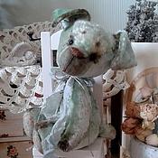 Куклы и игрушки ручной работы. Ярмарка Мастеров - ручная работа Щен тедди Бонифаций (мятный). Handmade.