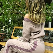 Одежда ручной работы. Ярмарка Мастеров - ручная работа Скидка!Костюм кашемировый,костюм на каждый день,костюм пудровый цвет. Handmade.