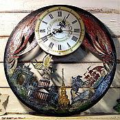 Для дома и интерьера handmade. Livemaster - original item Gift watch city of St. Petersburg with Scarlet Sails. Handmade.
