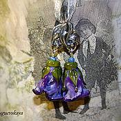 """Украшения ручной работы. Ярмарка Мастеров - ручная работа Срьги лэмпворк """"Лиловые грезы"""". Handmade."""