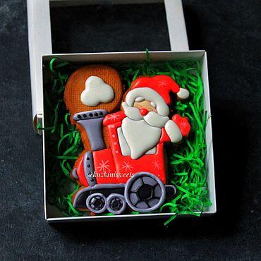 Сувениры и подарки ручной работы. Ярмарка Мастеров - ручная работа Дед Мороз на паровозе. Handmade.