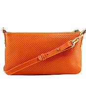 Сумки и аксессуары handmade. Livemaster - original item Orange leather purse. Handmade.