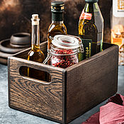 Посуда handmade. Livemaster - original item Dark oak drawer for storing kitchen items. Handmade.