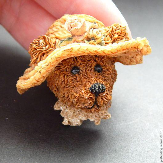 """Винтажные украшения. Ярмарка Мастеров - ручная работа. Купить Boyds Bear and Friends Винтажная брошь """"Дама в шляпе с розами"""". Handmade."""