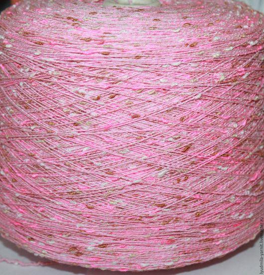 Вязание ручной работы. Ярмарка Мастеров - ручная работа. Купить Хлопок/вискоза art PLY, цвет розовый-белый -клубника-молочный шоколад. Handmade.