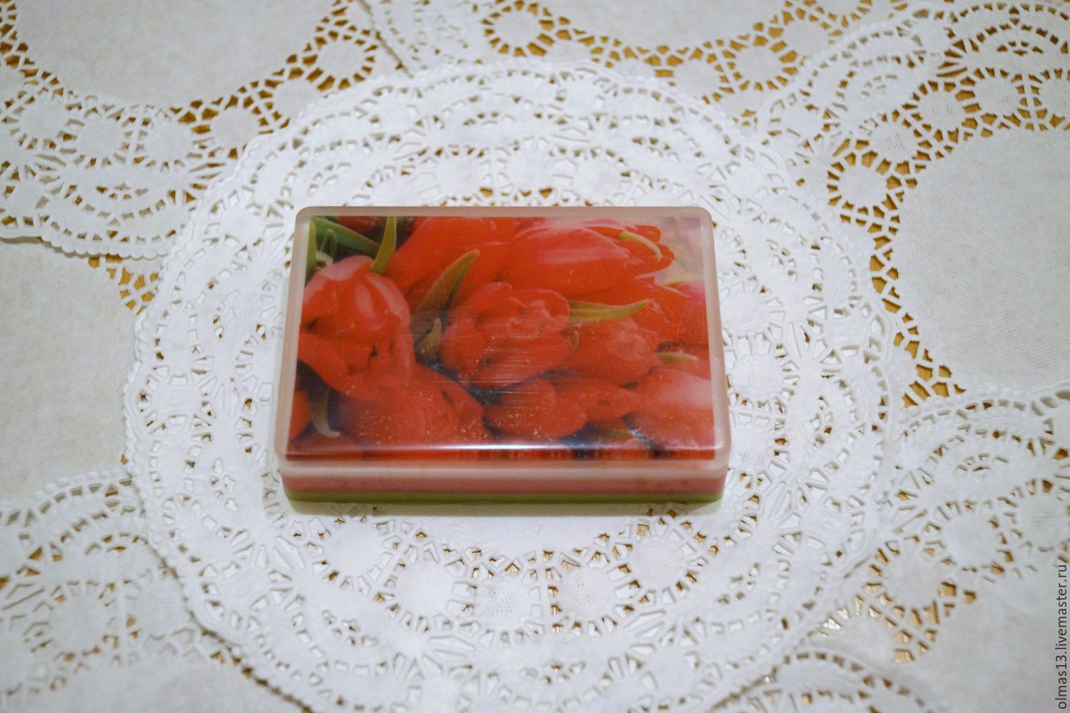Soap with a picture of Tulips, Soap, Moscow, Фото №1