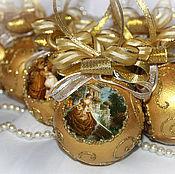 """Подарки к праздникам ручной работы. Ярмарка Мастеров - ручная работа Елочные шары """"Золушка"""" 6 штук. Handmade."""