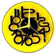 """Для дома и интерьера ручной работы. Ярмарка Мастеров - ручная работа Часы настенные """"Жёлтая лаконичность"""". Handmade."""
