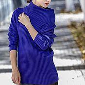 Одежда handmade. Livemaster - original item A sweater dress with unusual collar longline Fishing. Handmade.