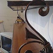 Для дома и интерьера ручной работы. Ярмарка Мастеров - ручная работа полка кованая авторская работа. Handmade.