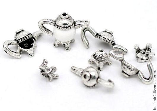Шапочка для бусин, цвет - античное серебро. Фурнитура для создания украшений. Busimir