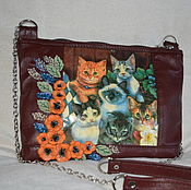 Сумки и аксессуары handmade. Livemaster - original item Bag made of genuine leather with flowers art.1-401. Handmade.