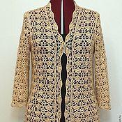 Одежда handmade. Livemaster - original item Cashmere! Silk!Blouse crochet openwork.