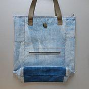 Сумки и аксессуары handmade. Livemaster - original item shopper: Denim Shopping Bag August. Handmade.