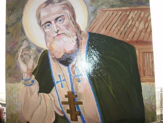 Иконы ручной работы. Ярмарка Мастеров - ручная работа. Купить живописная работа святой преподобный серафим саровский чудотворец. Handmade.