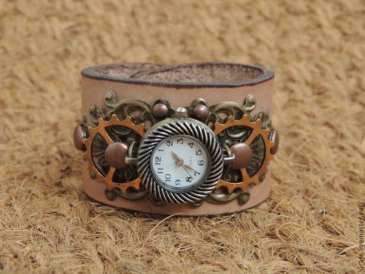 Часы ручной работы. Ярмарка Мастеров - ручная работа. Купить Время не ждёт. Handmade. Бежевый, нежность