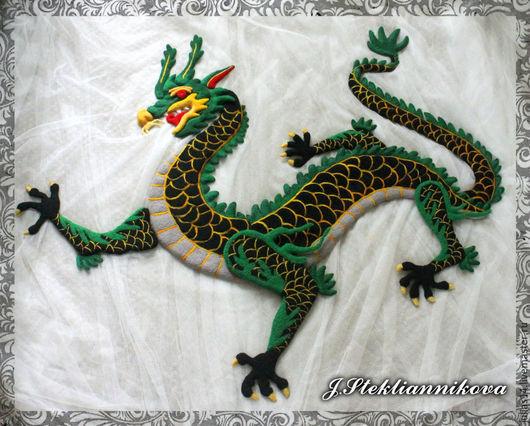 Игрушки животные, ручной работы. Ярмарка Мастеров - ручная работа. Купить Китайский черный дракон. Handmade. Разноцветный, валяние из шерсти