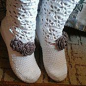 Обувь ручной работы. Ярмарка Мастеров - ручная работа сапожки белоснежка. Handmade.