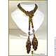 Order Lariat beaded 'Jurmala' harness necklace belt. Lariaty and necklace. Livemaster. . Lariats Фото №3