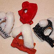Для домашних животных, ручной работы. Ярмарка Мастеров - ручная работа Шапочка зимняя для собаки. Handmade.