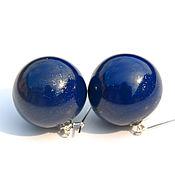 Украшения handmade. Livemaster - original item Earrings-balls made of glass