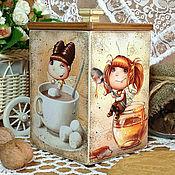 """Для дома и интерьера ручной работы. Ярмарка Мастеров - ручная работа короб для сладостей """"Феи доброго утра"""". Handmade."""