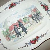 Тарелки винтажные ручной работы. Ярмарка Мастеров - ручная работа Большое блюдо Франция. Handmade.