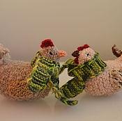 Куклы и игрушки ручной работы. Ярмарка Мастеров - ручная работа Петушок и курочка - птичий двор. Handmade.
