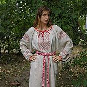 """Русский стиль ручной работы. Ярмарка Мастеров - ручная работа Платье-рубаха""""Традиция"""". Handmade."""