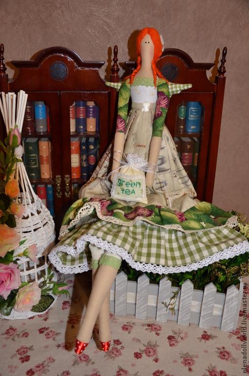Куклы Тильды ручной работы. Ярмарка Мастеров - ручная работа. Купить Тильда,,Чайный Ангел,,. Handmade. Бежевый, ангел чайный