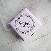 Свадебный салон ручной работы. Ярмарка Мастеров - ручная работа Windflower Wed - свадебная шкатулка для обручальных колец. Handmade.