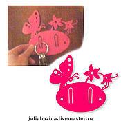 """Для дома и интерьера ручной работы. Ярмарка Мастеров - ручная работа ключница """"бабочка"""". Handmade."""