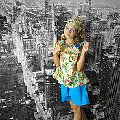 Комплекты одежды ручной работы. Ярмарка Мастеров - ручная работа Летний костюм для девочки (блузка + шорты). Handmade.