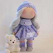 Куклы и игрушки ручной работы. Ярмарка Мастеров - ручная работа Сиреневая малышка. Handmade.