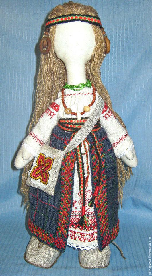 Человечки ручной работы. Ярмарка Мастеров - ручная работа. Купить Кукла в русском костюме. Handmade. Разноцветный, подарок, двунитка