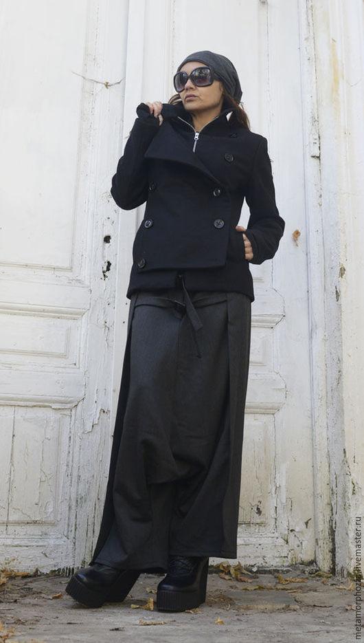 Пиджаки, жакеты ручной работы. Ярмарка Мастеров - ручная работа. Купить ЖАКЕТ ЧЕРНЫЙ BLACK JACKET. Handmade. Черный, кашемировый